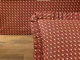 Donna Sharp Southwest Spice Cotton Queen Tailored Bedskirt Rust