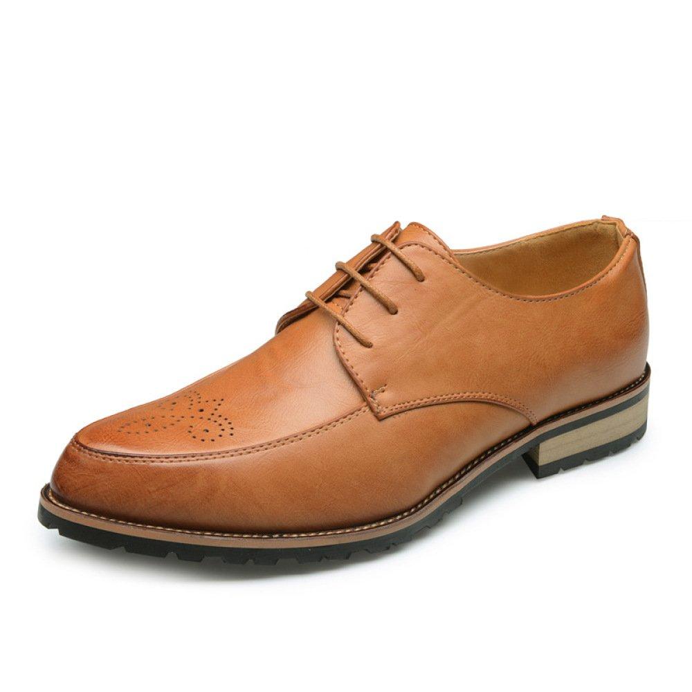Koyi Bullock Talló Los Zapatos De Vestir del Negocio De Los Zapatos De Los Hombres Retro Estilo Británico Resistente Al Desgaste Antideslizante Absorción De Choque Transpirable 43 EU Yellow