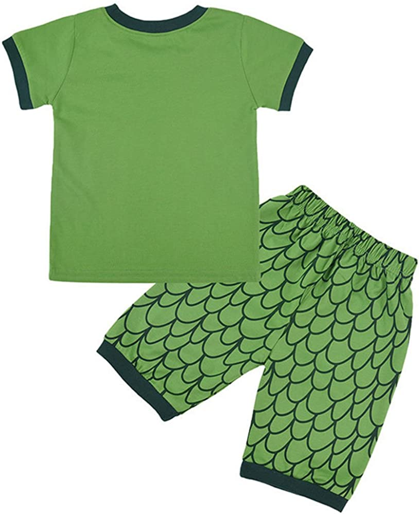 Camisetas Y Pantalones Cortos Pijama De Dinosaurio O Coche Para Ninos Pijamas Juegos De Pijama Para Bebe Pijamas Y Batas Ropa