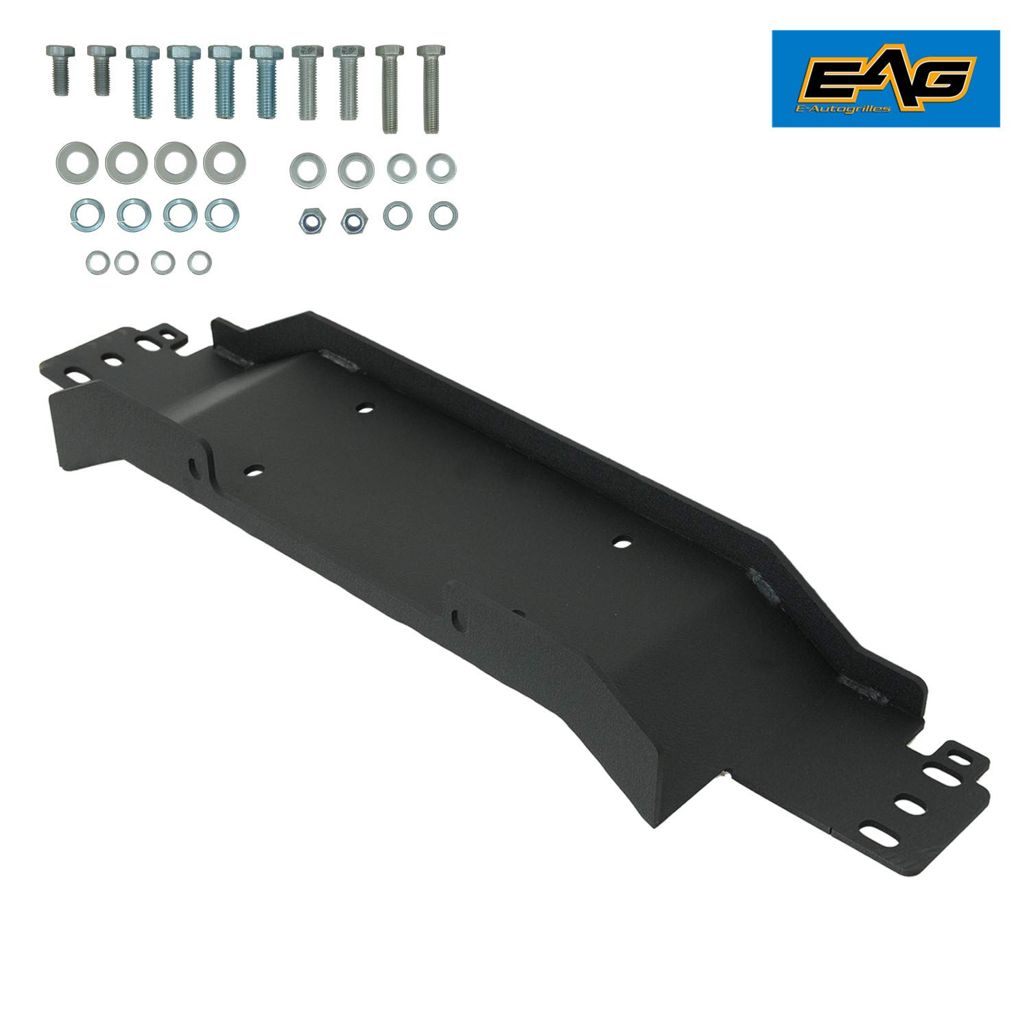 EAG Raised Winch Mounting Plate for 1987-2006 Jeep Wrangler TJ/YJ OE Factory Bumper