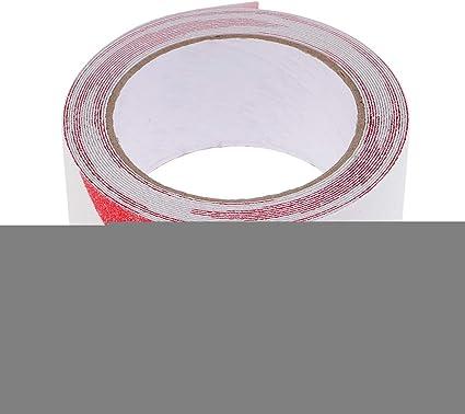 Rollo 5cmx5m Etiqueta Adhesiva Cinta Adhesiva Seguridad Antideslizante Para Piscinas De Escalera - rojo blanco, 5cmx5M: Amazon.es: Oficina y papelería