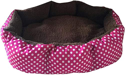 Pet Dog Cat Bed House Soft Fleece Warm Bed House Plush Cozy Nest Mat, Removable and Washable Breathable Bed for Small Dog Cat Cold Winter – 14.17 X11.81 red