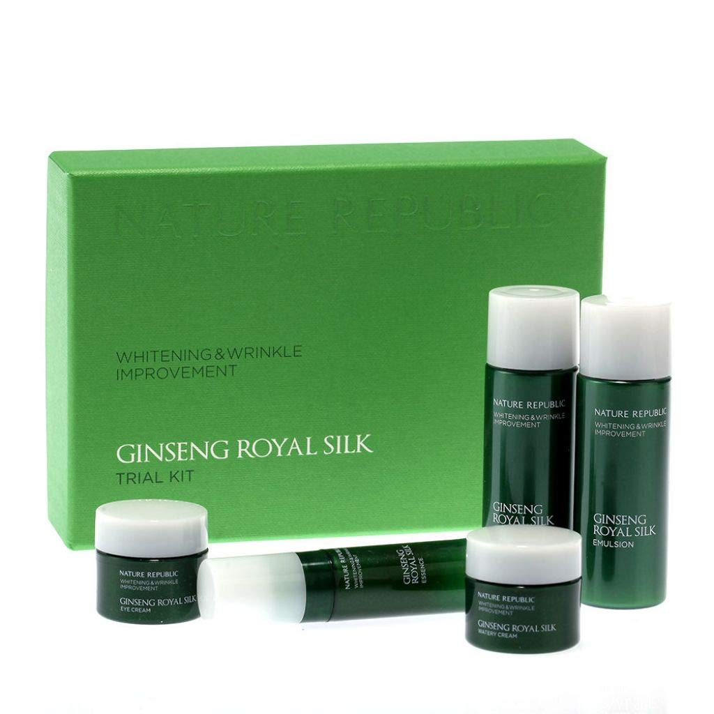 Nature Republic Ginseng Royal Silk Trial Kit (5 items) Brightening & Wrinkle improvement