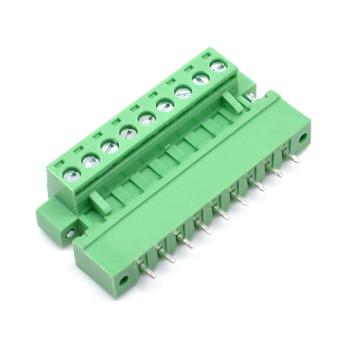 Willwin 20Pcs 5.08mm Pitch 2Pin PCB Pluggable Terminal Blocks Connectors Green