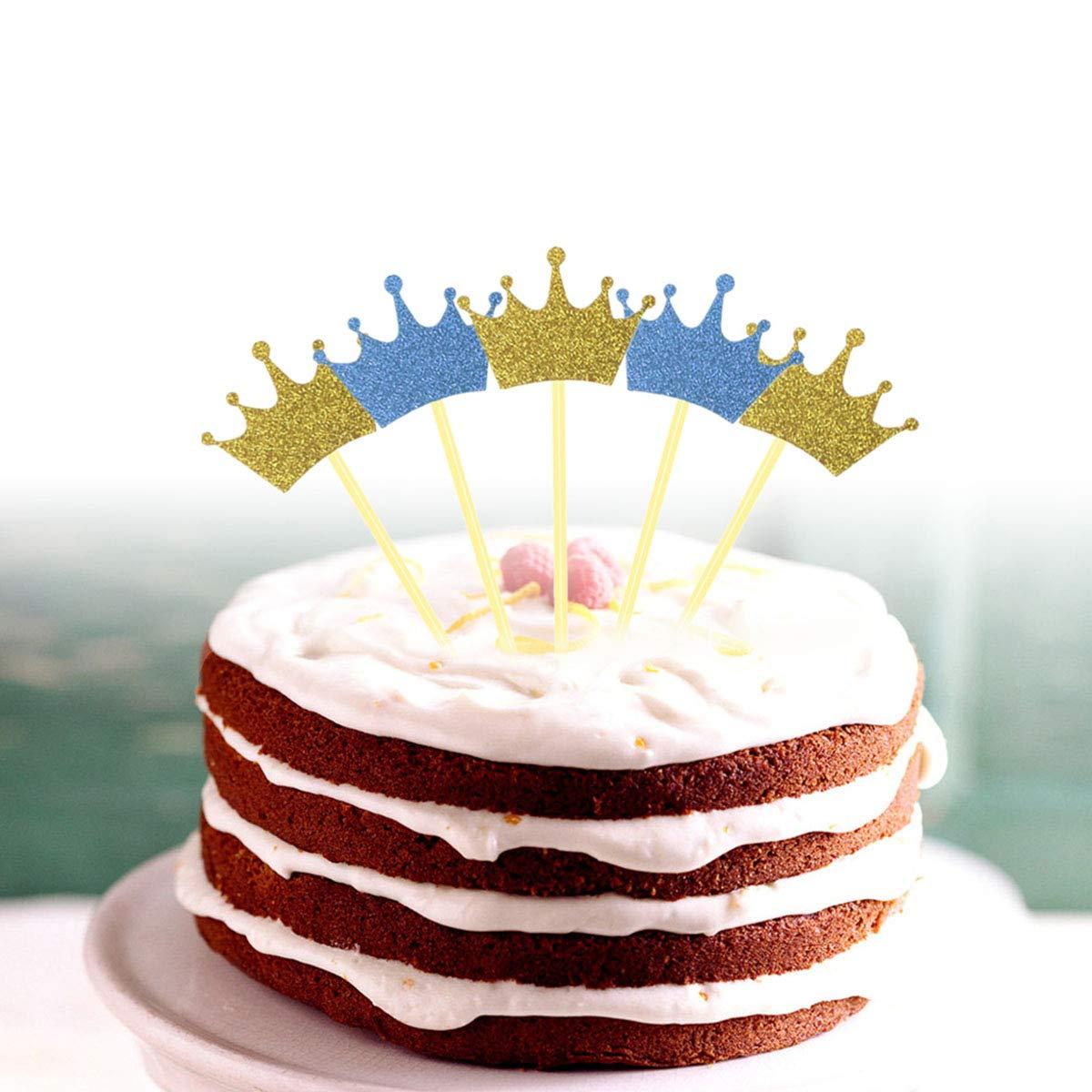 20pcs Glitter Paper Happy Birthday Cake Topper Cupcake SticksFood Picks