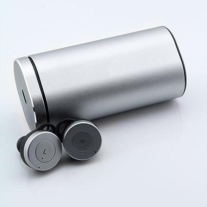 Earbuds Silver - Mini Auriculares Inalámbricos con Estuche de Carga