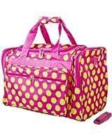 Dallas Luggage Pink Green Polka Dots Duffle Bag 22-inch