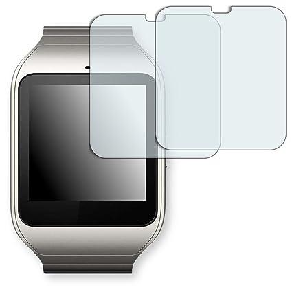 2x Golebo Semi-Matt protectores de pantalla para Sony SmartWatch 3 - (efecto antirreflectante, montaje muy fácil, removible sin residuos) ...
