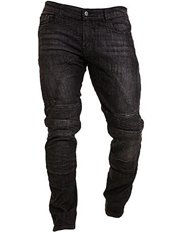 eb0f70596c Qaswa Hombre Motocicleta Pantalones Moto Jeans Con Protección Aramida  Motorcycle Biker Pants