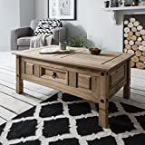 Corona Mexican Pine Coffee Table - Rustic Design with Drawer