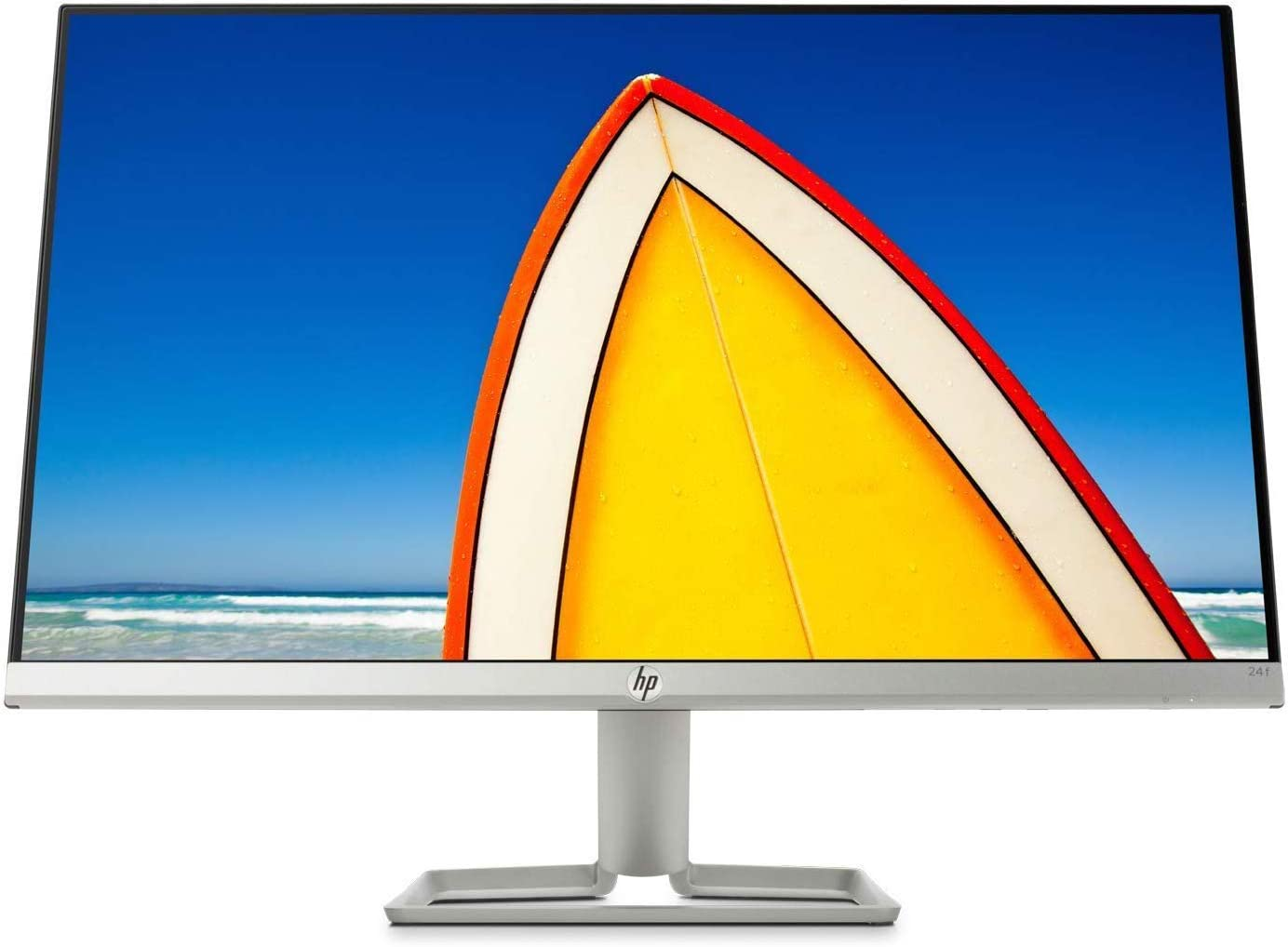"HP 24f 23.8"" Ultra Slim Bezels IPS LED Display FHD FreeSync Monitor, HDMI VGA-Natural Silver"