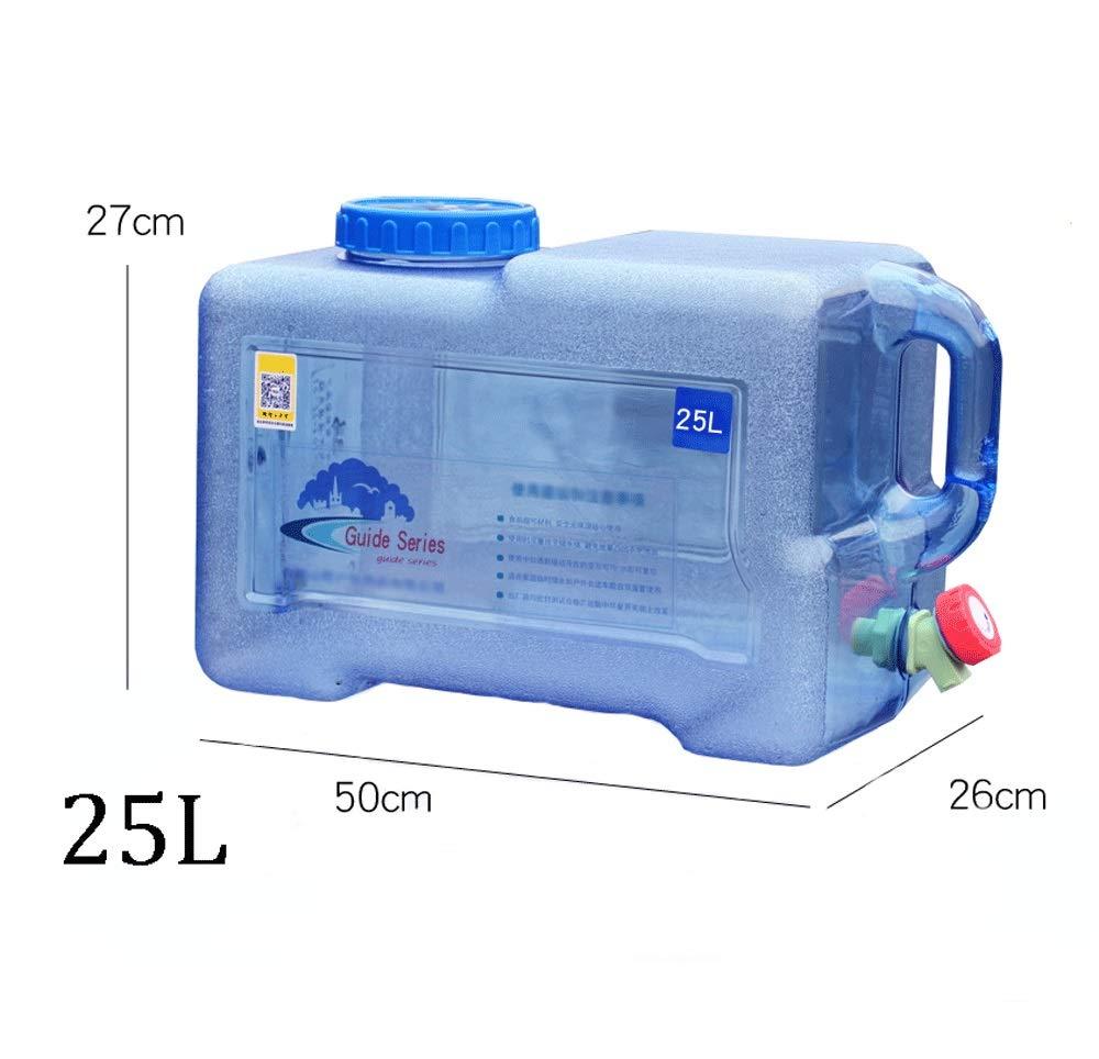 5L 25litros HWJ Grifo Contenedor de Agua,Recipiente de Agua Tanque Almacenamiento Cubo,para Acampar Viaje Al Aire Libre Car Road Trip Autocaravana RV Pesca Viajes por Carretera Caza,Pl/ástico PE