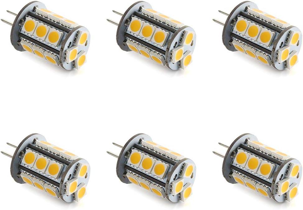 Makergroup T3 G4 Bi-pin LED Light Bulb 12VAC/DC Low Voltage 3Watt Daylight White 6000K for Outdoor Landscape Lighting Path Lights, Deck Lights, Step Lights,Paver Lights 6-Pack