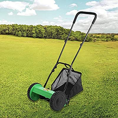 Amazon.com: Cortacésped compacto con empuje de mano para ...
