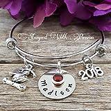 Graduation Bracelet, Personalized Graduation Gift 2018, Hand Stamped Graduation Jewelry, Unique Custom Necklace, Graduate Bracelet 2018, Class of 2018, Grad gift, Grad 2018, Class of 2019