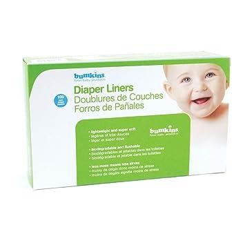 Bumkins Flushable Diaper Liner, 1 Count, White (6pk)