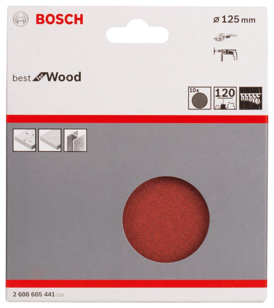 10 Stk. Bosch Professional Schleifblatt C470  Best for Wood+Paint 125mm Korn 120