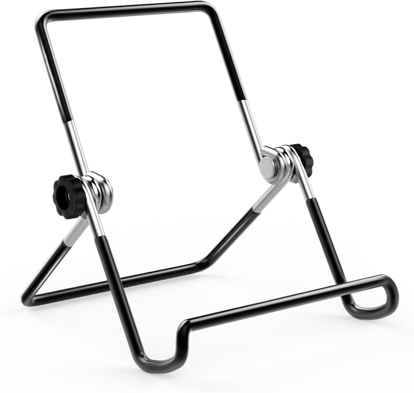 "MoKo Foldable Tablet Stand, Adjustable Portable Metal Holder Cradle for 9-12.9"" Tablet Fit iPad 10.2"" 2019, New iPad Air 3, Mini 5, iPad Pro 11 2018 Samsung Tab E 9.6/Tab A 10.1, BLACK"