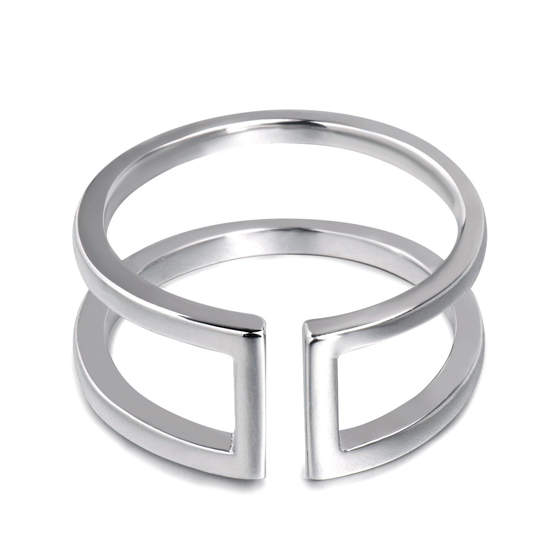 Fonsalette Sterling Silver Rings for Women Dainty Rings Adjustable Rings for Women Statement Ring by Fonsalette