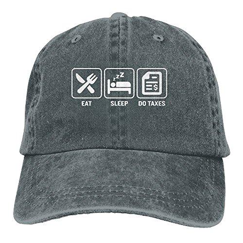 Tax Day Costume (MISSNA Unisex Eat Sleep Taxes Cotton Baseball Cap Vintage Snap Cap Hats)