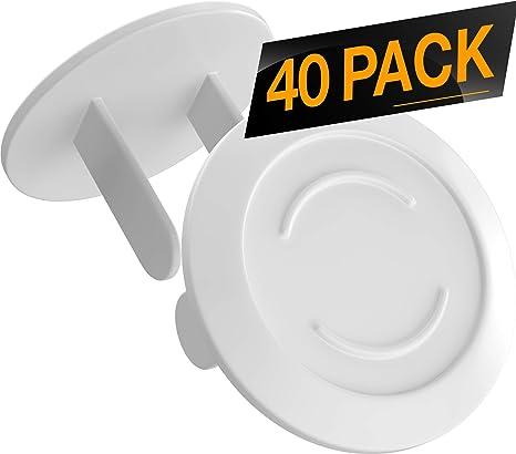 10 Pack Prueba de ni/ños de Seguridad El/éctrica Protector Caps z/ócalo el/éctrico Cubiertas Caps para Oficina y Hogar Cubiertas de Enchufe