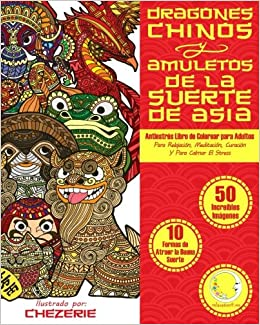 Antiestres Libro De Colorear Para Adultos Dragones Chinos Y