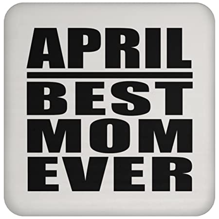 April Best Mom Ever - Drink Coaster Posavasos para Bebidas ...