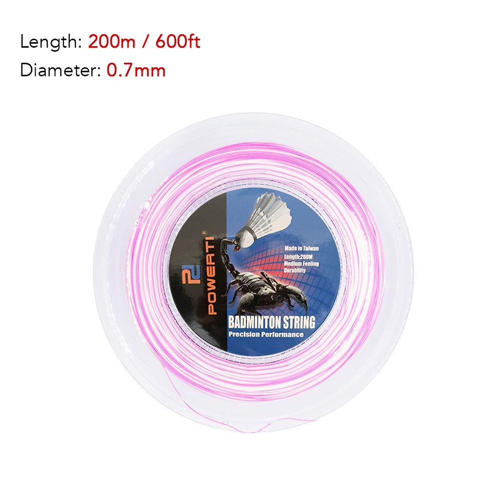 Lixada 600FT 0.7mm Bicolor Badminton String Colorful Bright Indoor Outdoor Badminton Training Racket String Resilient Replacement Badminton String
