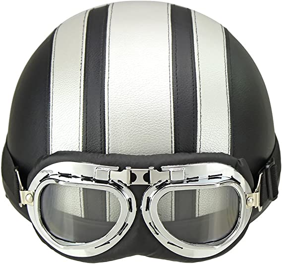 Motorcycle Riding Helmet Lens Biker Pilot Goggles Windshield with Soft interior