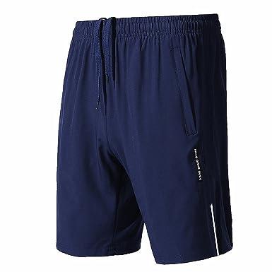 4a92ce0a1b CLOUSPO Short Running pour Hommes avec Poche Zippée Short de Sport Léger  Short Respirant pour Jogging