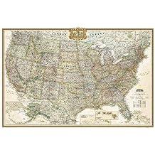 National Geographic: United States Executive Wall Map (36 x 24 inches) (National Geographic Reference Map)