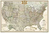 #10: National Geographic: United States Executive Wall Map (36 x 24 inches) (National Geographic Reference Map)