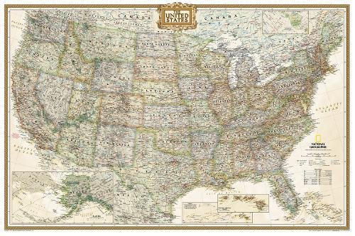 Top map of usa poster