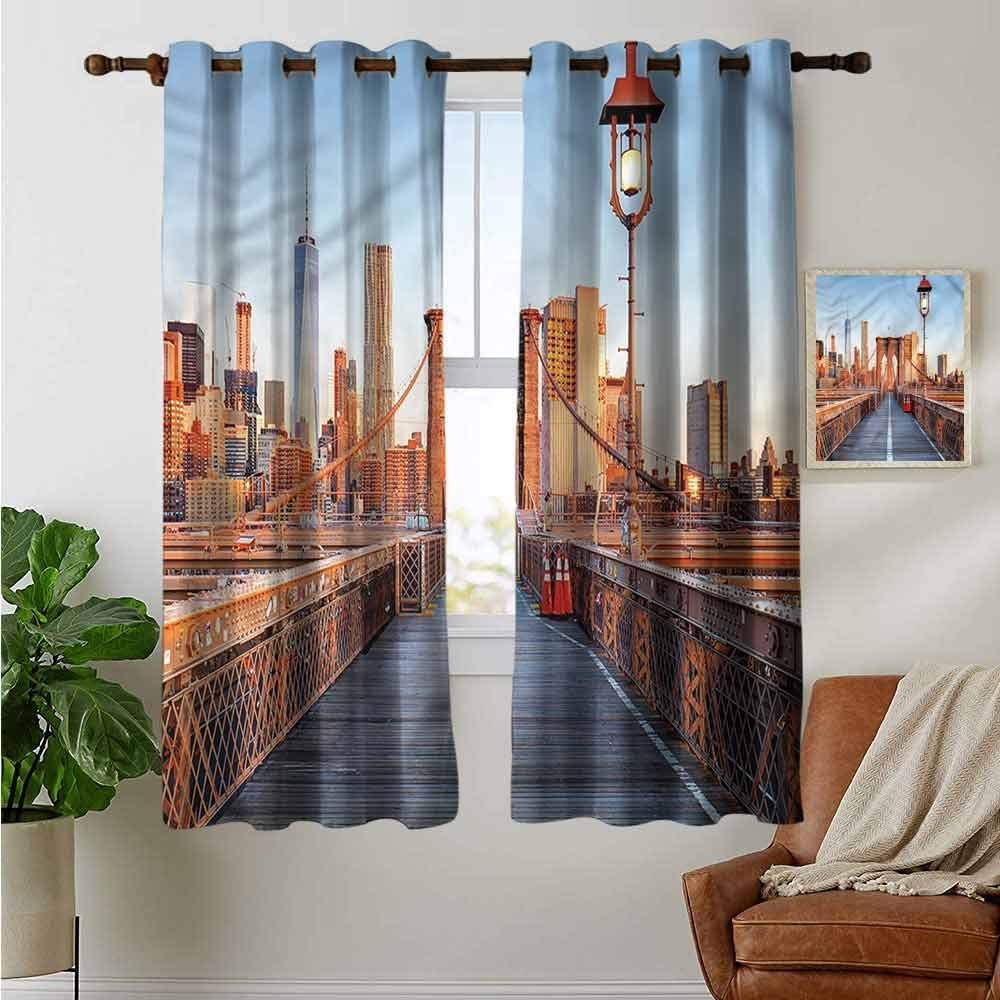 petpany Blackout Curtains City,Amsterdam Famous Travel,for Bedroom,Nursery,Living Room 42x54