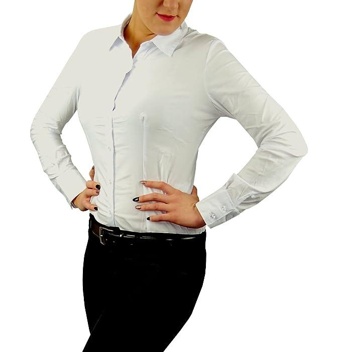 DAMEN BLUSEN BODY M fällt kleiner aus, weiß Hemdbluse EUR