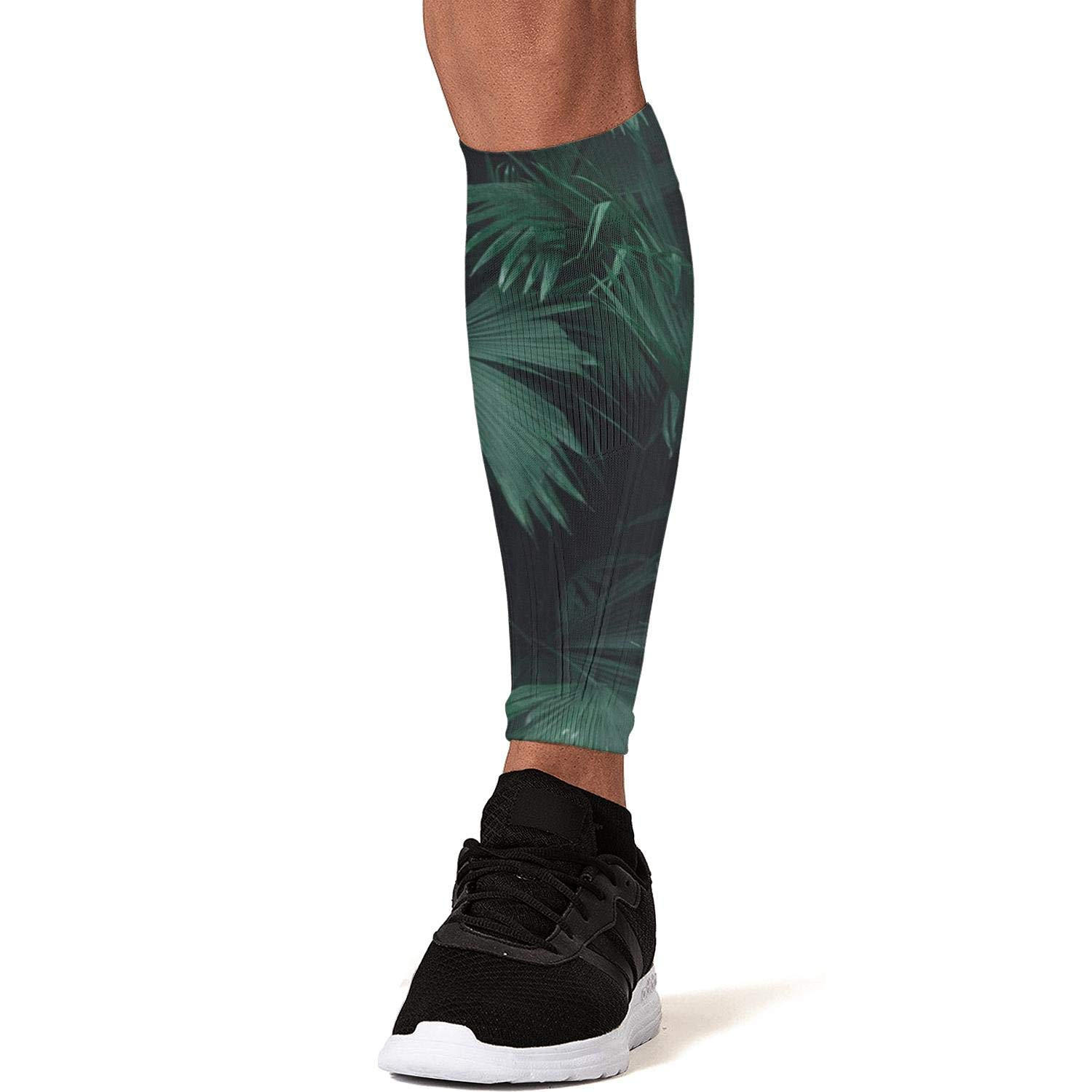 Smilelolly Tropical Jungle Plants Palm Leaf Calf Compression Sleeves Helps Shin Splint Leg Sleeves for Men Women