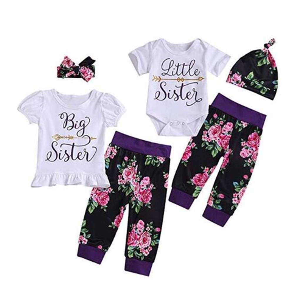 puseky Baby Girls Boys Short Sleeve T-Shirt Tops Short Pants Brother and Sister Matching Outfits Set