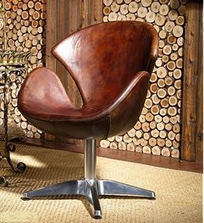 Design möbel sessel  Echtleder Drehsessel Vintage Ledersessel Braun Design Leder Sessel ...