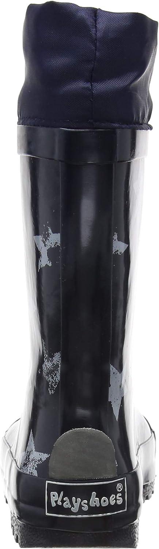 Botas de Goma de Caucho Natural Unisex ni/ños Playshoes Bota de Agua con Cord/ón Estrella