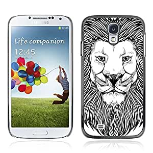 Colorful Printed Hard Protective Back Case Cover Shell Skin for Samsung Galaxy S4 IV (I9500 / I9505 / I9505G) / SGH-i337 ( Majestic Lion Painting )