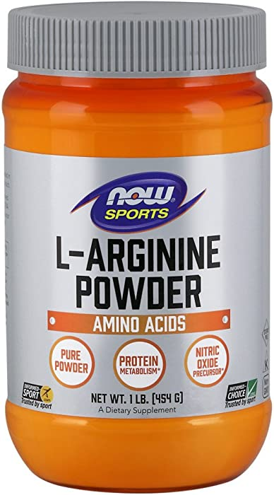 NOW Sports Nutrition, L-Arginine Powder, Amino Acids, 1-Pound