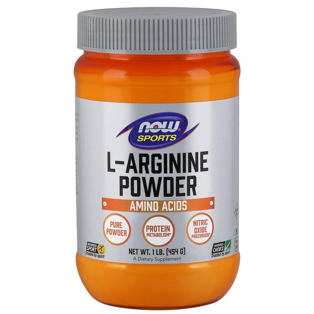 NOW Sports Nutrition, L-Arginine Powder, Amino Acids, 1-Pound by Now Sports