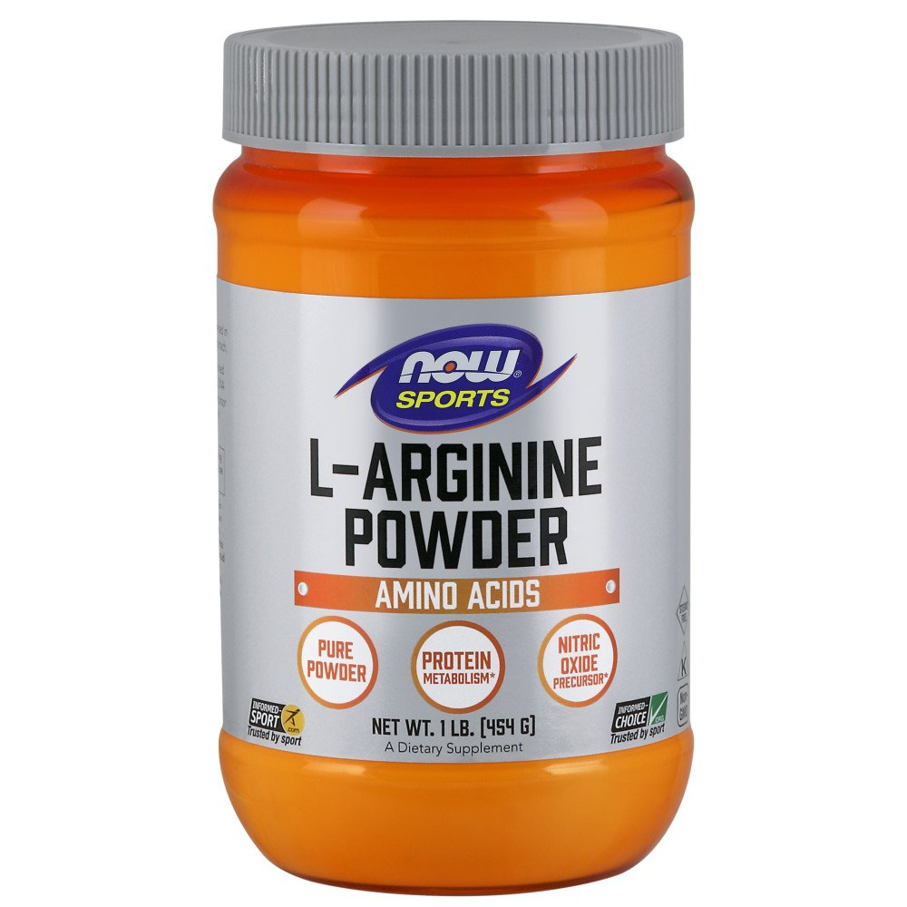 NOW Sports L-Arginine Powder, 1-Pound