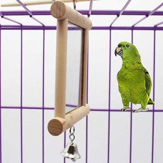 Fattigger - Jaula Colgante de Madera para pájaros y Loros, Juguete ...