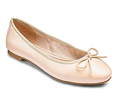 33588dad05ef New Ex Store Heavenly Soles Beige Leather Ballet Pumps Flat Shoes 4 6 7 8  in D E EEE Width Fittings RRP £25