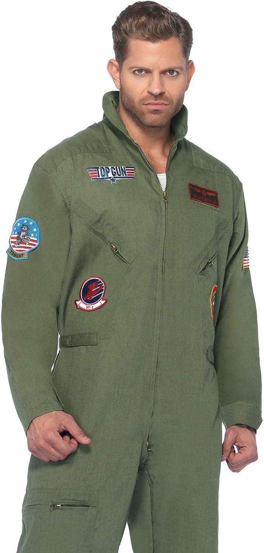 Leg Avenue Mens Top Gun Flight Suit Costume