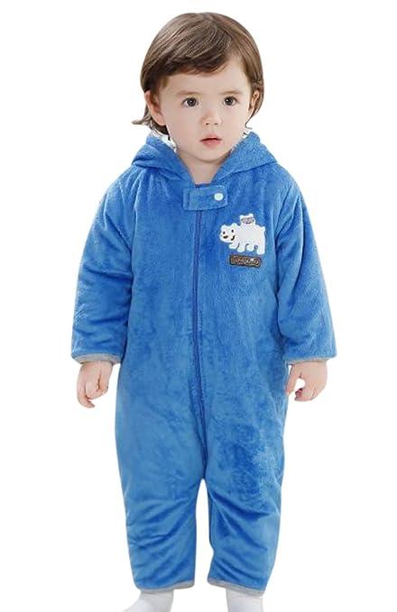 Happy Cherry Peleles Mono Pijama de Una Pieza de Invierno para Bebés Patrón de Oso Color