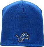 Detroit Lions Skull Knit Hat Logo Block