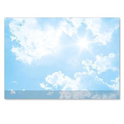 Sous Main Avec Nuages Ciel Bleu Ciel Bureau Bureau Bloc Notes