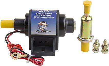 CarBole 12S Bomba de combustible eléctrica universal de 12 V de metal resistente de 4 – 7 PSI de baja presión en línea bomba de combustible solo gasolina